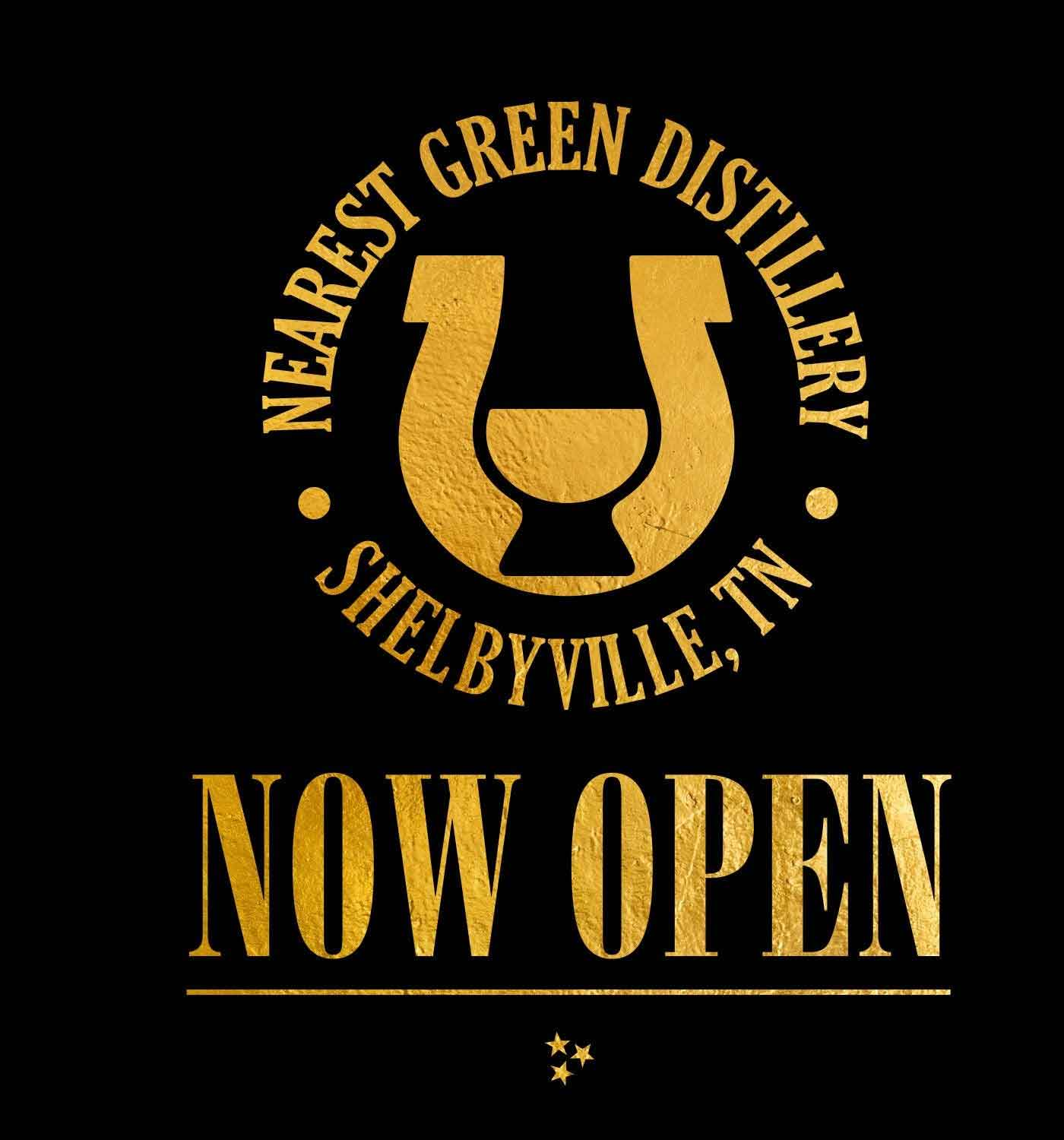 Save The Date, Shelbyville, TN distillery reopening 06-16-21 in gold text