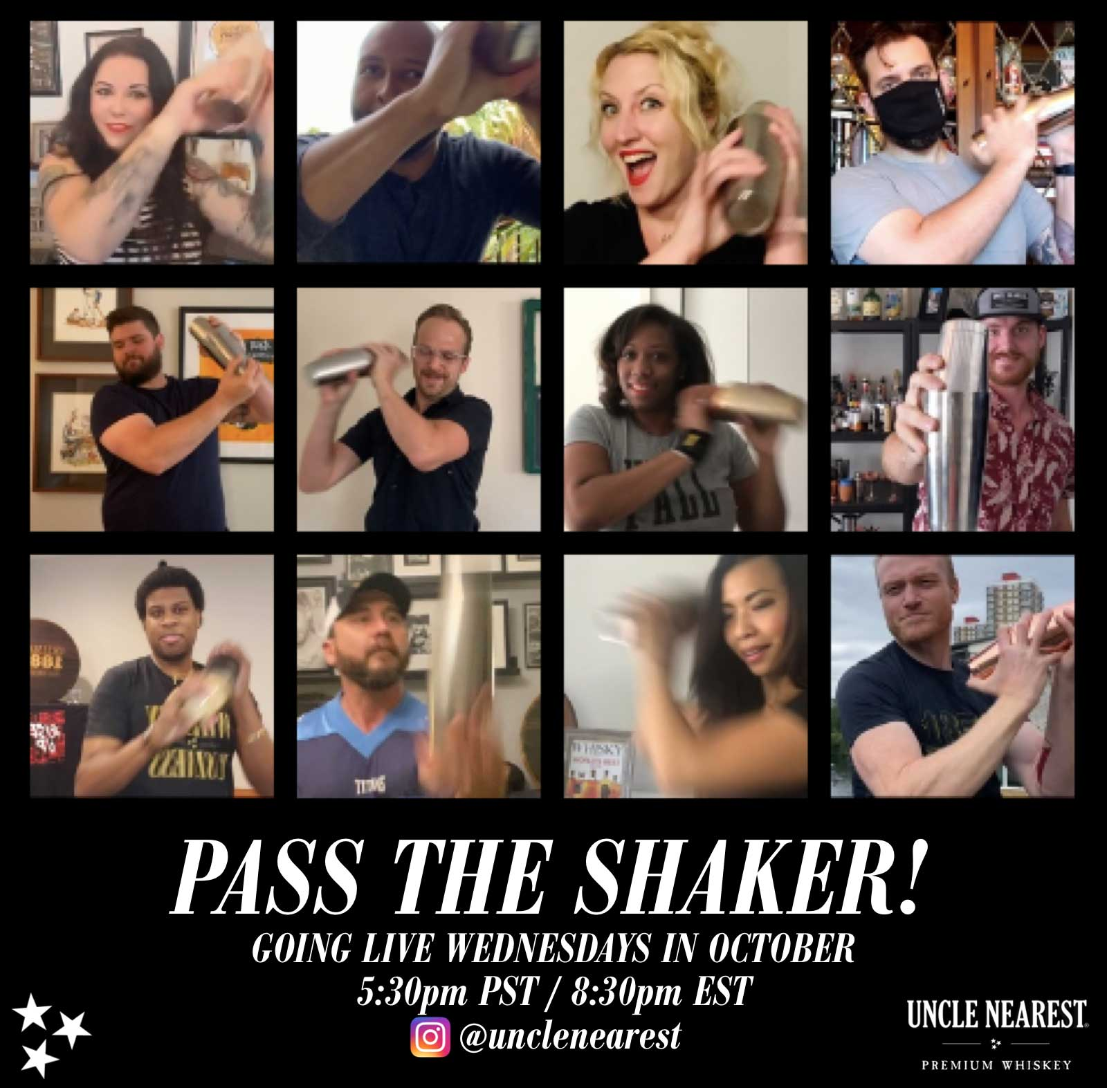 Pass The Shaker Collage - Uncle Nearest